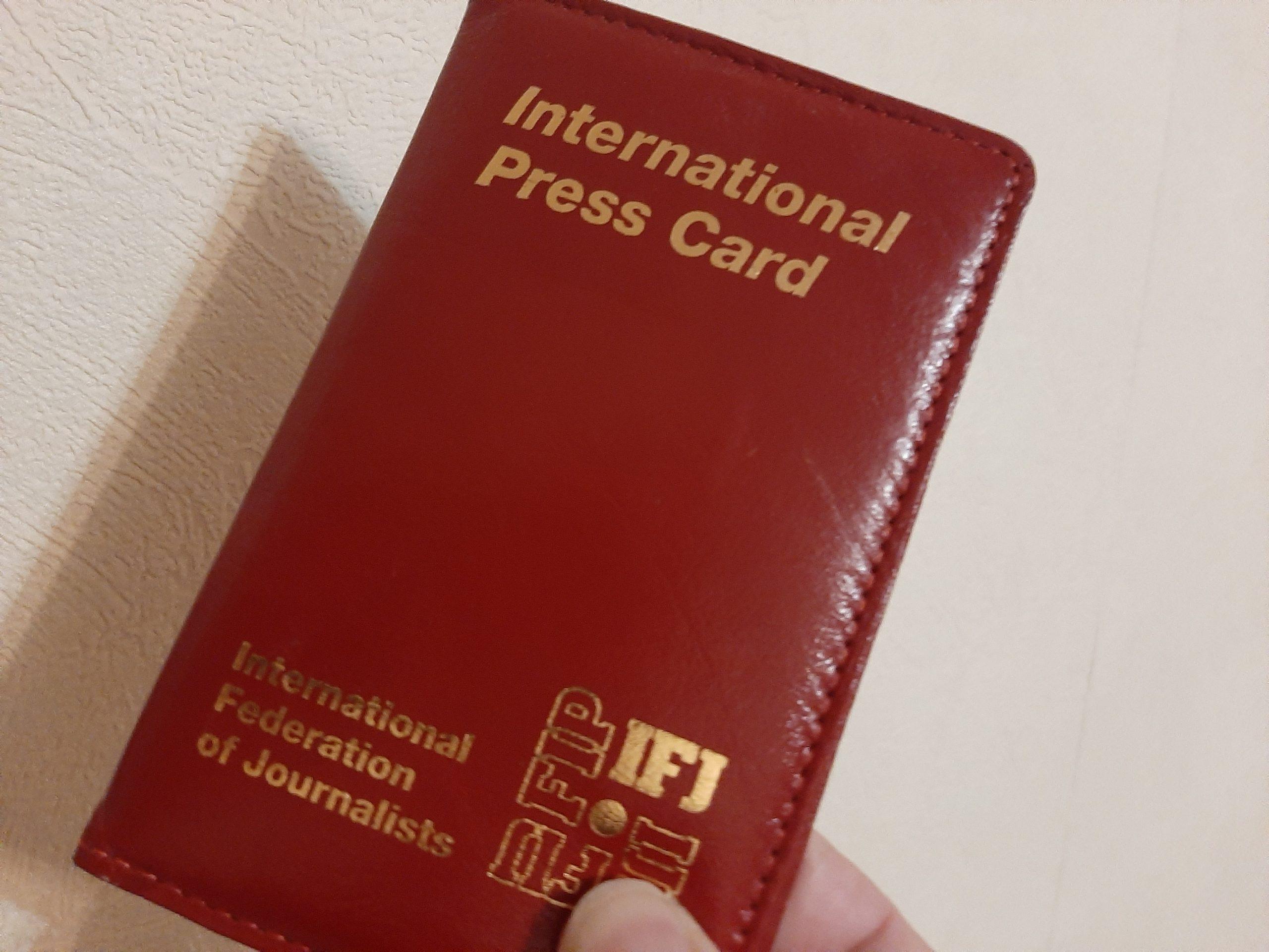 Journalistes, demandez votre carte de presse internationale