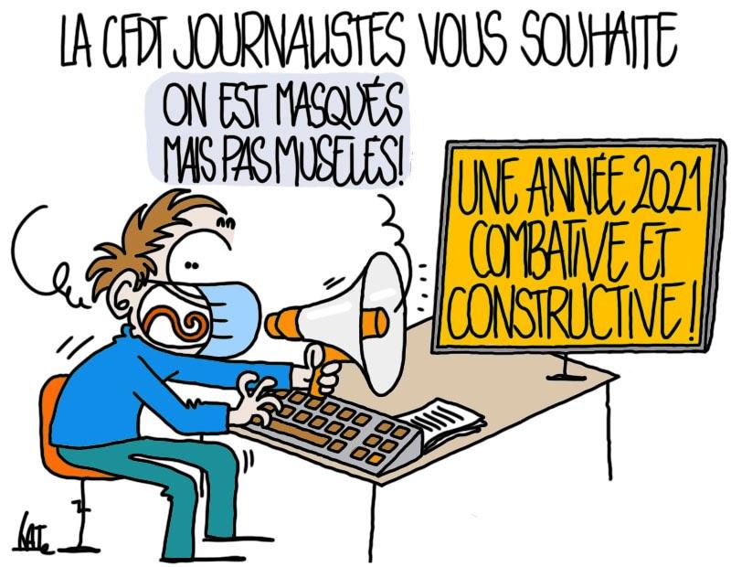 En 2021, journalistes, rejoignez la CFDT !