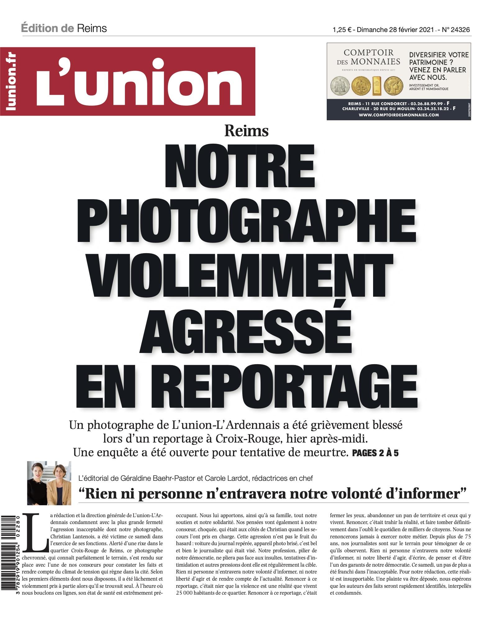 Stupeur et solidarité après l'agression de notre confrère photographe