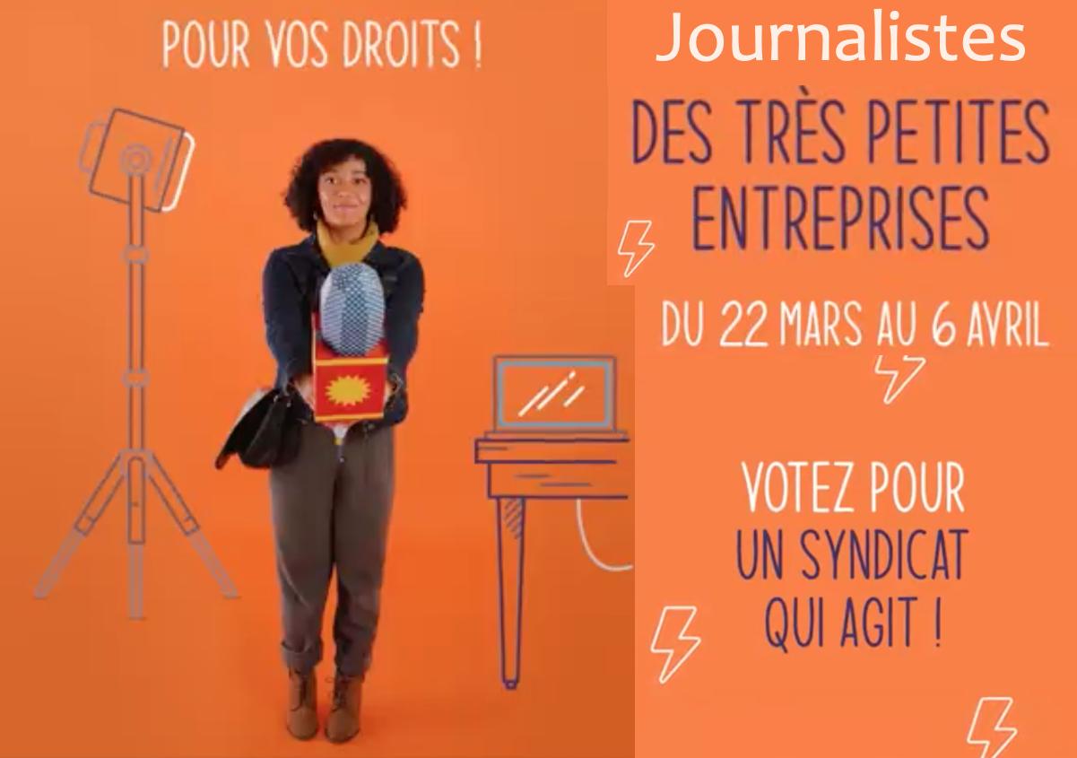 Journalistes en TPE, votez pour un syndicat qui agit, votez CFDT !