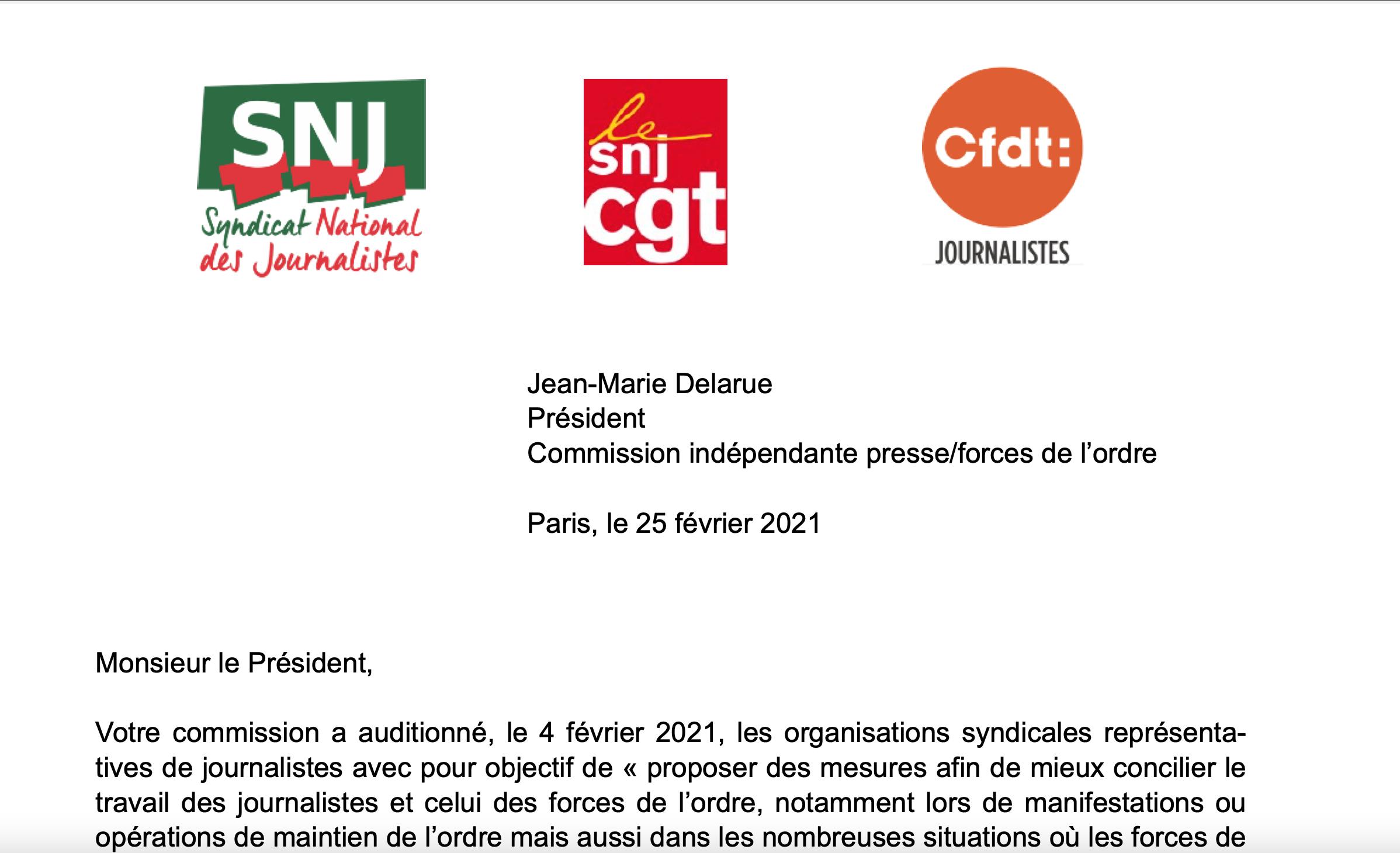 Journalistes et forces de l'ordre : constats et propositions à la commission Delarue