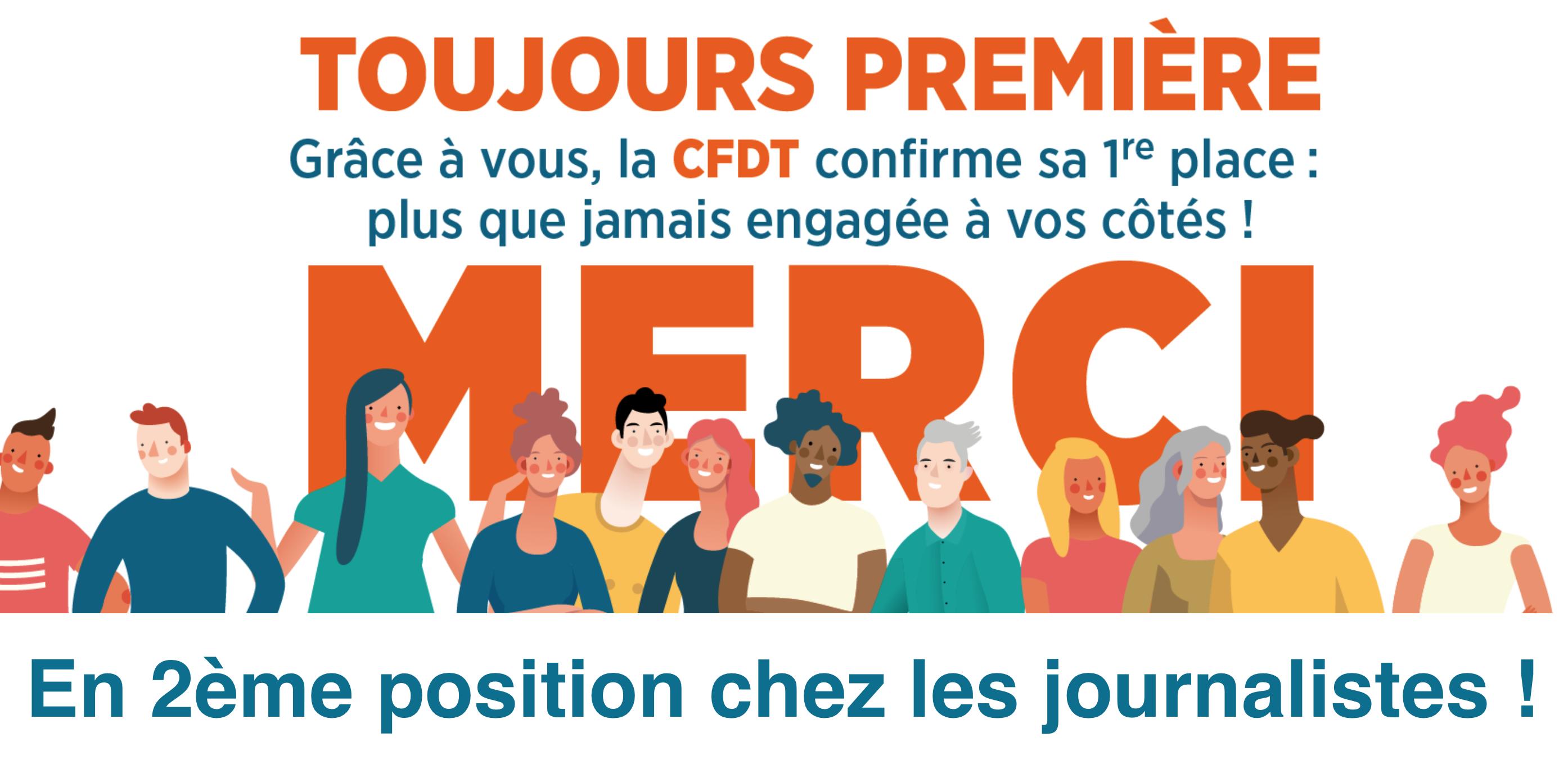 Représentativité : progression de la CFDT, qui passe en 2ème position chez les journalistes