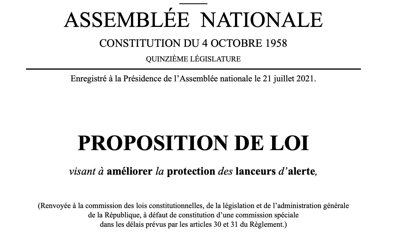 Lanceurs d'alerte : proposition de loi du député Waserman
